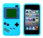 iTitan Cotton Candy Blue{Classic Game Boy} Soft and Smooth Silicone Cute 3D Fitted Bumper Gel Case for iPod 4 (4G) 4th Generation iTouch by Apple Durable and Slim Flexible Fashion Cover with Amazing and Creative Cartoon Design