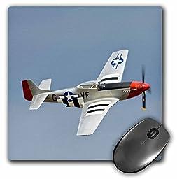 3dRose LLC 8 x 8 x 0.25 Inches Mouse Pad, P 51D Mustang Fighter Wwii War Plane Bernard Friel (mp_97103_1)