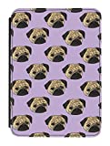 Disguised® Pug Life Design iPad Mini PU Leather Flip Case Cover Designed by Katie Reed