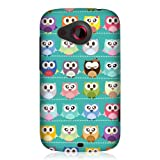 Head Case Designs Kawaii Green Owl Patterned Snap On Glossy Back Case for HTC Desire C