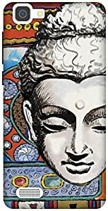 The Racoon Grip Buddhist Tapestry hard plastic printed back case / cover for Vivo V1