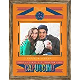 ArtzFolio My First Coffee - SMALL Size 14inch X 18inch (35.6cms X 45.7cms) Including 1 Inch Wide Frame - CANVAS PHOTO COLLAGE With ANTIQUE GOLD COLOUR NATURAL WOOD FRAME: Decorative & Designer Personalised & Customised Gifts For Him, Her, Family,