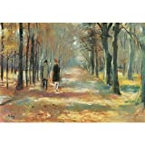 Art Panel - Couple Walking In The Woods By Lesser Ury