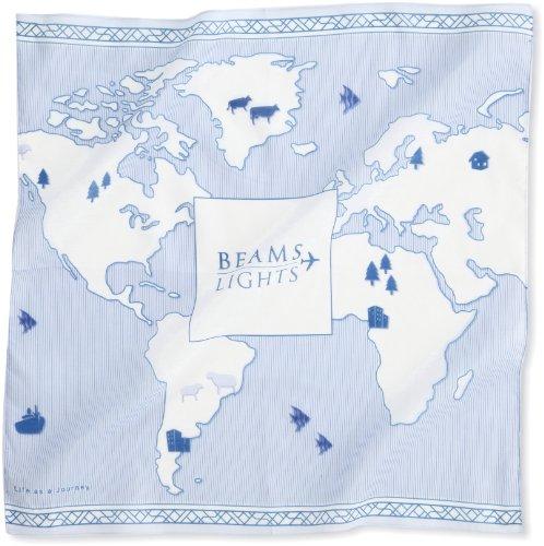 (ビームスライツ) BEAMS LIGHTS / オリジナルプリント ハンカチ 52470011377 75 BLUE ONE SIZE
