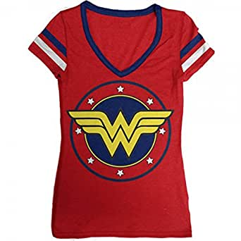 DC Comics Wonder Woman Logo V-Neck Women's T-Shirt