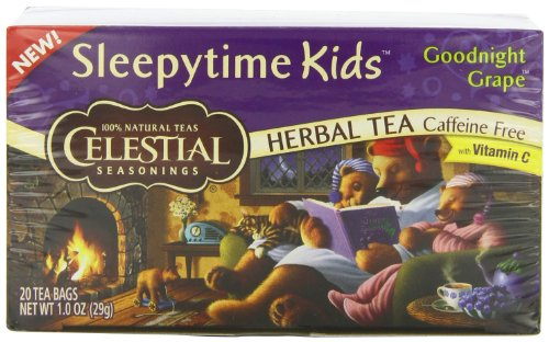 Celestial Seasonings Sleepytime Kids Tea, Goodnight Grape, 20 Count (Grape Tea compare prices)