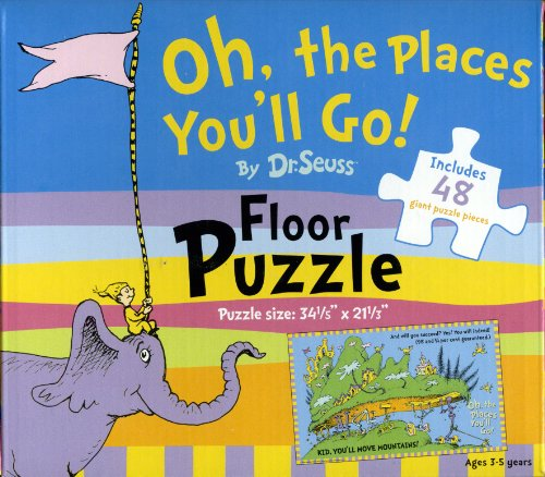 Cheap World Publications Group Floor Puzzle by Dr. Seuss – Oh, The Places You'll Go (1572156376)