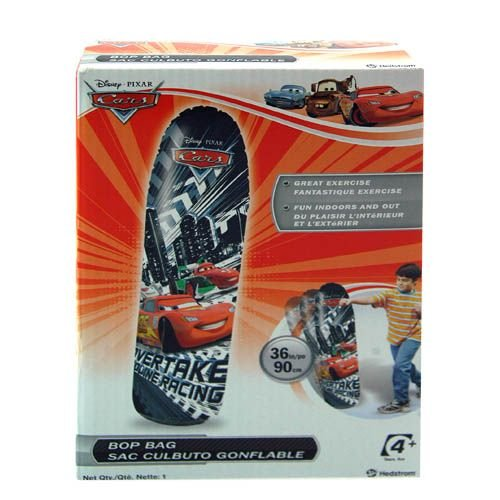 "Disney Lightening Mcqueen Cars Movie 36"" H BOP BAG Punching Inflatable Toy by Hedstrom - 1"