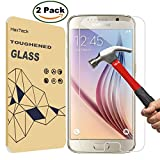 [2 Pack] SamSung S6 Screen Protector, MaxTeck 0.26mm 9H Tempered Glass Screen Protector for Samsung Galaxy S6 G920 G920A G920i G920T G920F G9200 - Lifetime Warranty [NOT Support SamSung S6 Edge]