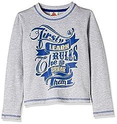 UFO Boys' T-Shirt (AW-16-KF-BKT-206_Grey Melange_4 - 5 years)