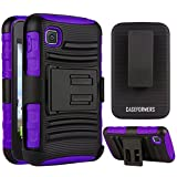 CASEFORMERS Duo Armor PURPLE for LG Optimus Dynamic II (L39C) Combo Case with Stand and Holster by CASEFORMERS