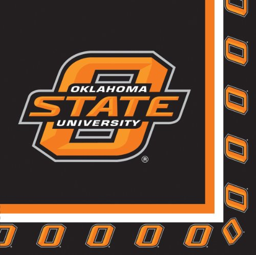 Creative Converting Oklahoma State Cowboys Luncheon Napkins (20 Count) - 1