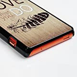 Maviss-Diary-Gemalt-PC-Casemit-Aluminium-in-Back-Strahl-Funktion-fr-Sony-Xperia-Z3-CompactZ3-Mini-Hllen-Schutzhlle-Backcover-Scratch-Telefon-Kasten-Handyhlle-Handycover-Feder-what-do-you-love