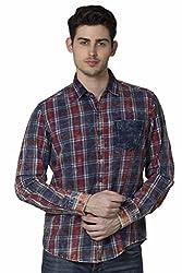 XARO Men Cotton Casual Red Shirt