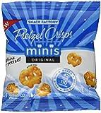 Snack Factory Pretzel Crisps Minis Original, Box of 24 1oz Packs