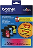 Brother LC65HYCL High-Yield 3-Pack