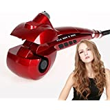 SexyBeauty Professional Steam Hair Curler Curling Iron Automatic Styling Curler Machine Tool(red)