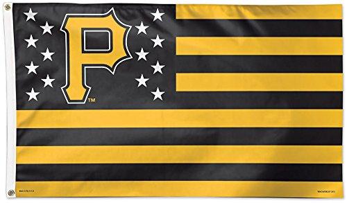 PITTSBURGH PIRATES STARS & STRIPES 3 ft x 5 ft MLB Deluxe Banner Flag