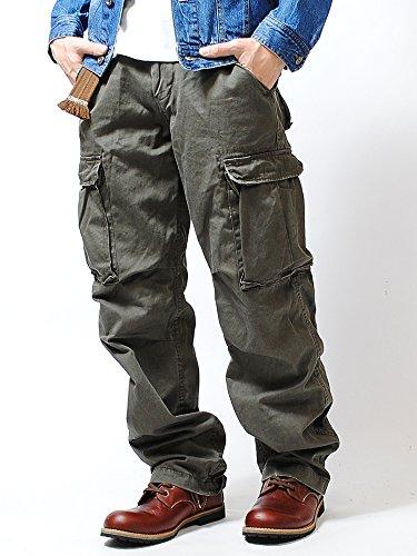 リアルクラッシュクロージング (REAL CRUSH CLOTHING) ヴィンテージ カーゴパンツ (L, A/GREEN)