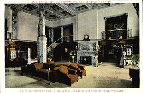 Hotel Carls-Rite Lobby, The House of Comfort Toronto, Ontario Original Vintage Postcard
