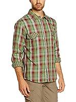 CMP Campagnolo Camisa Hombre 3T18157 (Verde / Rojo)