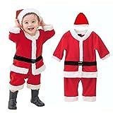 (ビモラ)VIMORA クリスマス 子供服 帽子付き 赤ちゃん サンタ コスチューム 女の子 男の子 寝相 衣装 着ぐるみ ベビー服 (80cm, 男の子)