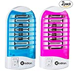 Bug Zapper Mosquito Killer Lamp, Electronic Insect Killer, Eliminates Flying Pests,Mosquito Trap, Night Lamp-2 Pack (Red & Blue)