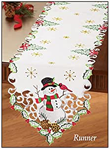 kitchen kitchen cardinal runner runners linens christmas  dining table kitchen table table home