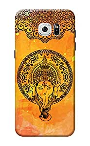 KanvasCases Lord Ganesha Design Back Cover for Samsung Galaxy S7 Edge + Free Mobile Viewing Stand