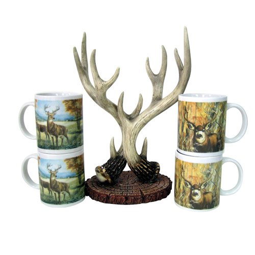 Amazon.com : Deer Antler Coffee Mug Set : Everything Else