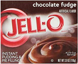 Jell-O Instant Pudding and Pie Filling Chocolate Fudge 39-Ounce Boxes Pack of 6