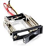 """CSL - 3,5"""" Wechselrahmen / SATA Mobile Rack   SATA I/II/III HDD Fesplattenrahmen im 5,25"""" Laufwerksschacht   bis 6.0 GBit/s   Anti-Vibrations-Kit   Abschließbar"""