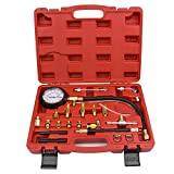 Heavy Duty Tu-114 Fuel Injection Pressure Test Kit – Comprehensive Universal Pump Pressure Gauge Set for Gasoline-driven Car, Truck, RV, SUV & ATV
