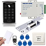 Generic 125KHz RFID EM ID Keypad Single Door Access Control Kit With Strike Lock Remote Exit Button
