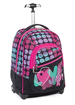 Amazon.com: WHEELED School Bag SEVEN FIT - LOL - Backpack - Black