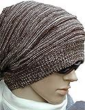 【Hi-Hi-World】 ニット帽 シルエットがきれい メンズ レディース ニットキャップ スノボ などにも (2.ブラウン)