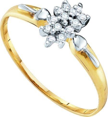 0.15CTW DIAMOND LADIES CLUSTER RING