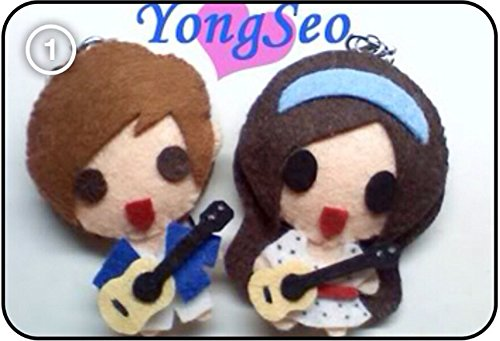 CNBLUE シーエヌブルー Yonghwa ヨンファ & 少女時代 Seohyun ソヒョン – We Got Married YongSeo Guitars KPOP 手作り縫いぐるみキーチェーン