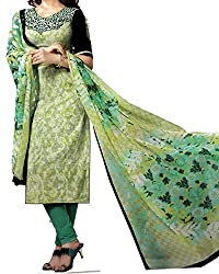 Jinaam Women's Cotton Unstitched Dress Material (jess 25_Green_Free Size)