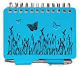 Metal Password Organizer Book Blue Butterfly W/pen Office Internet School College