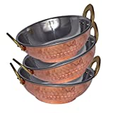 Prisha India Stainless Steel Karahi Pan Serving Bowl High Quality, Set Of 3