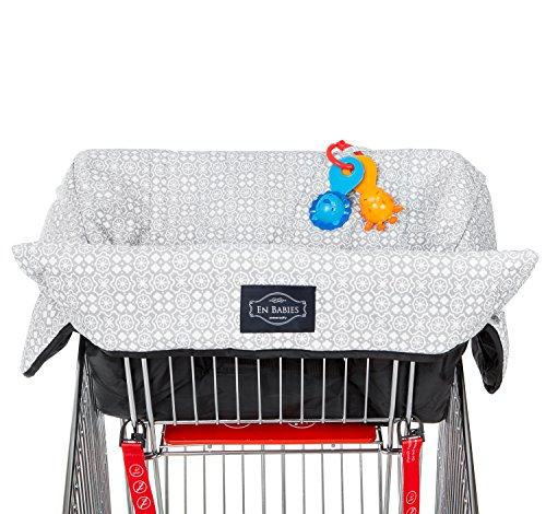 Learn More About Waterproof 2-in-1 Baby Shopping Cart Cover & High Chair Covers with Safety Harn...