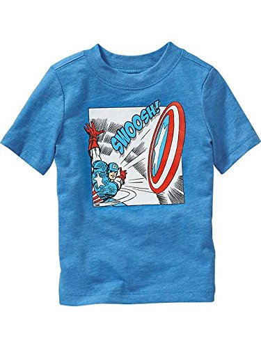 Old Navy Marvel Comics Captain America blue Tees For Baby Size 12-18 M