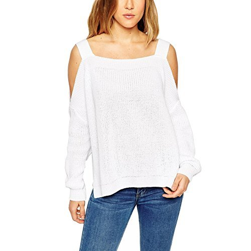 southstore-womens-off-the-shoulder-strappy-pullover-loose-knitted-sweaters-white