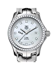 Kappa Alpha Theta Women's TAG Heuer Link Watch with Diamond Bezel