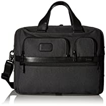 Tumi Alpha Ballistic Business Expandable Organizer Computer Brief, Anthracite, One Size
