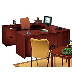 national office furniture udesk with left lateral file