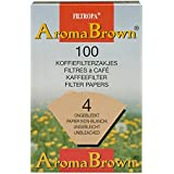 Pack of 80 - Unbleached Coffee Filter Papers - Size Four
