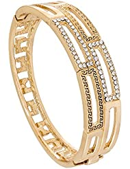 The Luxor Australian Diamond Studded Gold Plated Fashionable Kada For Women