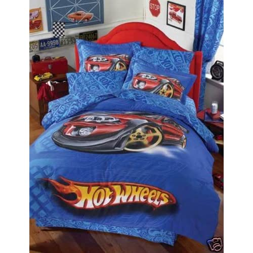hot wheels dragster comforter bedding set twin 6 pcs